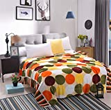 Zhiyuan sofá y cama manta de vellón con patrón de puntos, 150x200cm