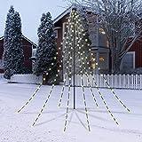 CHRISTmaxx LED-Lichterpyramide 2 m, grün ( Outdoor Weihnachtsbeleuchtung für draußen) Led Lichterkette für Weihnachtsbaum