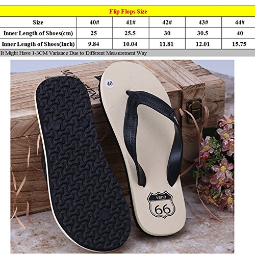 Linyuan Casual Style Non-slip Men's Flip Flops Simple Summer Sandals Beach Slippers Shoes Green