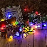 Cadena de Luz LED con Energía Solar WEINAS® Luces Solares de La Secuencia, 3 Modos de Luz Multicolor de Decoración Exterior / Interior Impermeable para Hogar, Fiestas, Boda, Arbóles Navidad, Jardín, Patio, Terraza y al Aire Libre