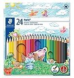 Staedtler Noris Club - Pack de 24 lápices de colores;Staedtler 144NC24 - Farbstifte Noris Club 24er Etui, multicolor