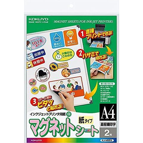 Impresora de inyección Kokuyo Imán de papel hoja papel mate A4 KJ-MS51N (importado de Japón)