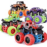 SaleON Set of 4 Unbreakable Mini Monster Trucks 4wd Truck Friction Powered Cars for Kids Baby Boys Super Cars Blaze…