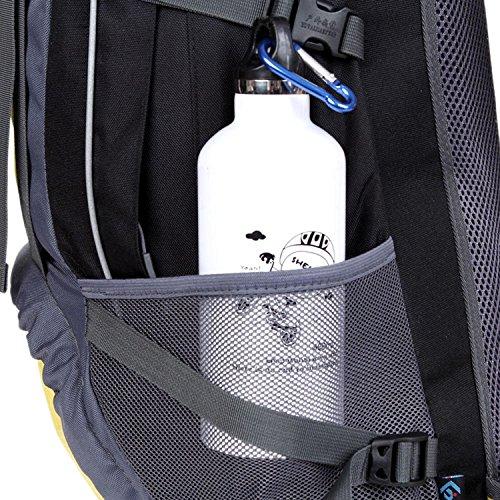 HWJF wasserdichte nylon - sports travel bergsteigen freizeit - rucksack für männer und frauen 55l Red