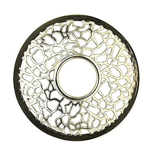 Yankee Candle 1507954 Crosshatch Illuma Lid, 9 x 9 x 3,5 cm, Metall, silber