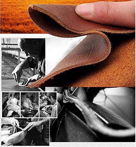 LXXAMens Estate Spiaggia Maschio Slipper Peso Leggero In Pelle Thongs ShoesReal Infradito Sandali Infradito Black