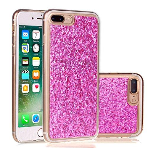 iPhone 7 Plus 5,5 Coque, Voguecase Bling TPU avec Absorption de Choc, Etui Silicone Souple, Légère / Ajustement Parfait Coque Shell Housse Cover pour Apple iPhone 7 Plus 5,5 (Or)+ Gratuit stylet l'écr Rose