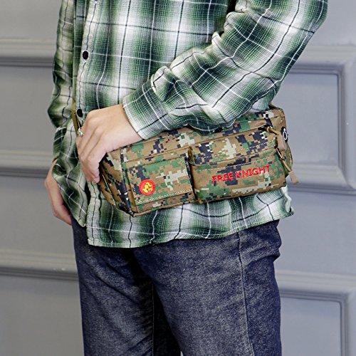 Gürteltasche Laufgürtel Hüfttasche, Freeknight Wasserbeständige Taille Tasche für Reisen Wandern Skaten Radfahren Gehen Passen Telefone bis zu 6,5 '' Lebenszeit Ersatzgarantie Camouflage grün