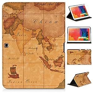 DONZO Wallet Travel Tablet Tasche für Samsung Galaxy Tab 4 10.1 T530 T535 Braun