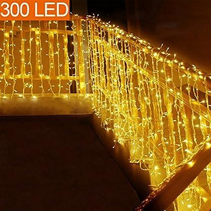 MOVEONSTEP Guirnaldas de Luces Guirnalda Luminosa Blanco Cálido 8 Modos Luces de Cadena para Fiestas Jardín Navidad Halloween Boda Iluminación Decorativa