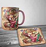Search : Disney Aurora Sleeping Beauty Punk Tattoo Mug And Coaster Set