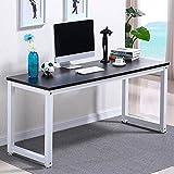 Yaheetech Compact Corner Computer Desk PC Laptop Desktop Study Writing Table Workstation for Home Office (120 x 60 x 73 cm), Black