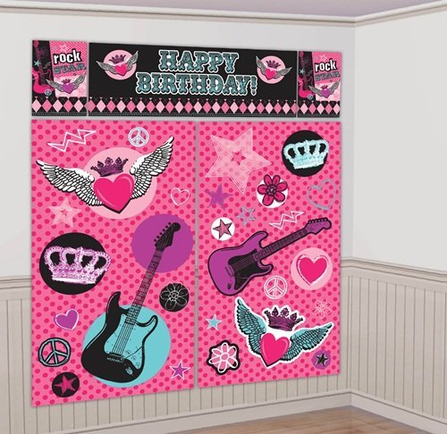 Princess Rocker Giant Scene Setter Wall Decorating Kit (5pc)