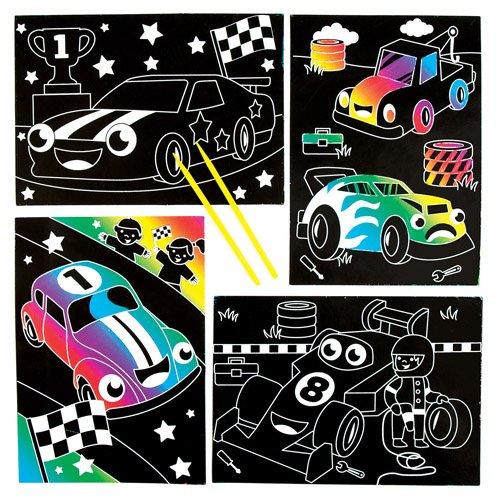 Scene Scratch Art con Macchinine da Corsa per Bambini da Ideare ...