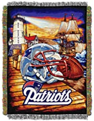 NFL New England Patriots Acrylic Tapestry Throw Blanket