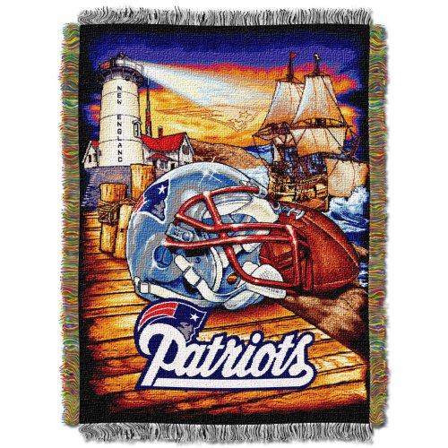 Northwest NFL-Motiv, damen Kinder unisex Herren, NFL051010076RET, New England Patriots, 48 X 60