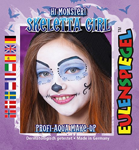 (Skeletta Girl Hi Monster ! Skelett Profi-Aqua Make-up Halloween Kinderschminke)