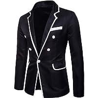 Pingtr Men's Suit Jackets, Mens Classic Style Business Blazer Jacket Office Smart Suits One Button Slim Fit Formal…