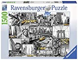 Ravensburger - 16354 Farbtupfer in New York, 1500 Teile Puzzle