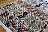 Elessar 130 x 200 cm Kelim, Orient-Teppich, Läufer, orientalische Zimmer-Dekoration, Bodenbelag Wohnzimmer Flur Geschenk Geburtstag Hochzeit, Wohnung, Wandteppich ES 1-4-04