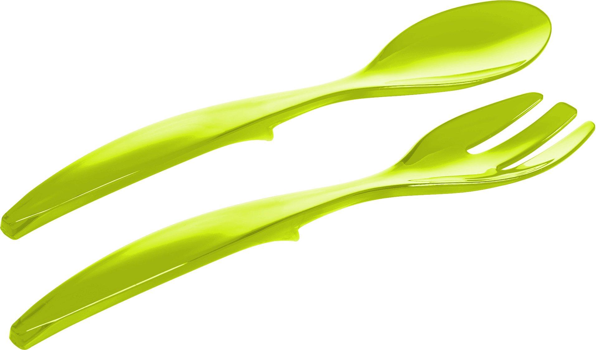 Emsa Vienna 507178 Posate per insalata, colore: Verde chiaro trasparente