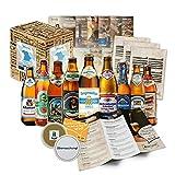 """CERVEZAS DE BAVIERA"" Original caja-regalo para el hombre con las 9 mejores cervezas de Baviera. El mejor detalle para un amigo, novio, hermano o abuelo."