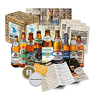Bayrisches Bier-Geschenk-Set in Geschenkverpackung (9×0,5l Bier aus Bayern)