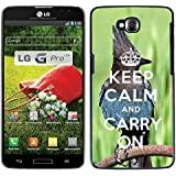 Print Motif Coque de protection Case Cover // Q01014393 keep calm and carry on 682 // LG G Pro Lite D680