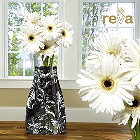Reva flat pack expanding flower vase ivy durable & reusable Holds large tall flowers bedroom conservatory kitchen
