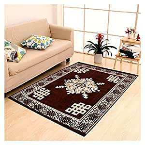 "New Style Polyester Carpet - 84"" x 60"", Brown"