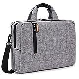 Brinch 15,6 Zoll Nylon Laptop Tasche Herren Umhängetasche Messenger Bag Aktentasche Businesstasche Arbeitstasche Schultertasche für 15-15,6 Zoll Laptop/MacBook/Notebook,Hellgrau