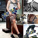 ENKEEO 57cm Mini Cruiser Board Skateboard mit stabilen Deck 4 PU-Rollen für Kinder, Jugendliche und Erwachsene - 7