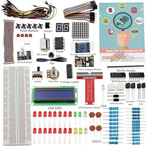 Preisvergleich Produktbild Sunfounder Project Super Starter Kit for Raspberry Pi (for RPi 3/2/B+ with English Manual)