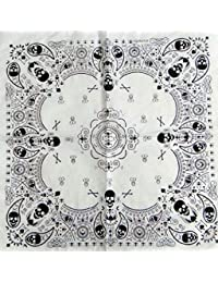White Skull 100% Cotton Bandana