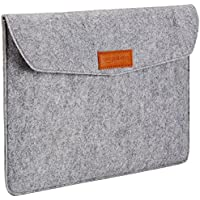 AmazonBasics Laptop-Tasche, Filz, für Displaygrößen bis 13 Zoll (33,02 cm), Hellgrau
