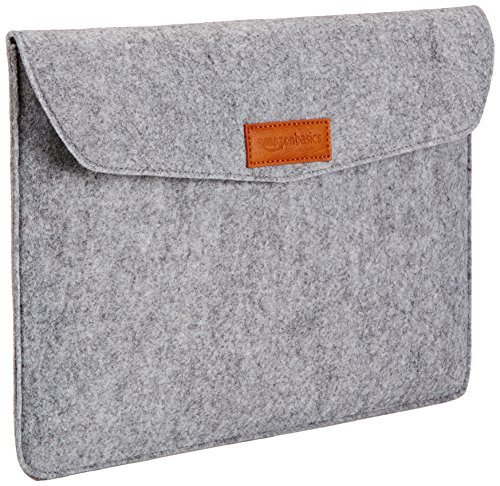 AmazonBasics 13-inch Felt Laptop Sleeve (Light Grey)