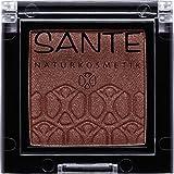 SANTE Naturkosmetik Mono Shade Lidschatten 05 Sparkling Brown, Braun, Eyeshadow, Schimmernde Farbnuance, Vegan, Bio-Extrakte, 2g