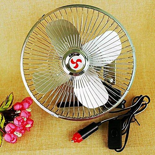 QXXZ Auto Kfz Lüfter,Auto Ventilator, Gebläse Klimaanlage Fan, Doppellüfter, Einstellbar Ventilator (Klimaanlage Gebläse)