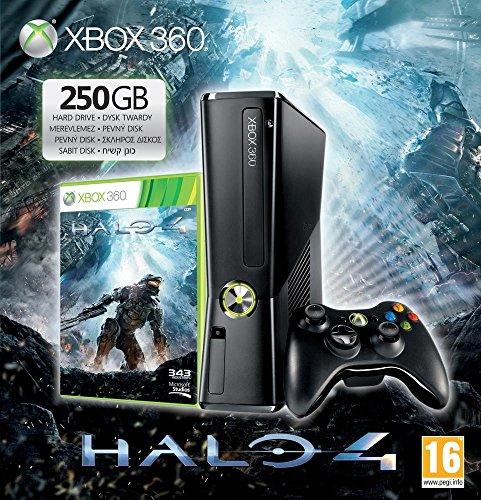 Console Xbox 360 250 Go + Manette sans fil + Micro-casque + Halo 4