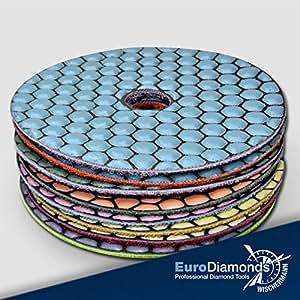 diamant schleifpad set 9 teilig schleifscheibe zum schleifen und polieren von naturstein. Black Bedroom Furniture Sets. Home Design Ideas