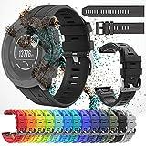 Bearbelly Armband Kompatibel für Garmin Instinct Wasserdichtes Sport-Silikon-Ersatzarmband Uhrenarmband Atmungsaktives Sport-Armband aus mehrfarbigem Silikon für Garmin Instinct