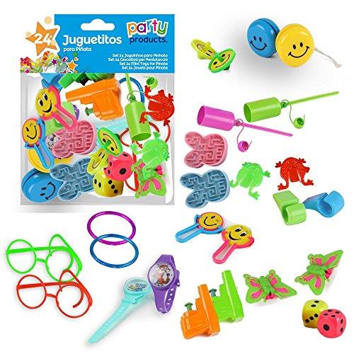 kit 24 jouets pour pinata fête anniversaire enfants pochette surprise cadeaux 8424345682011