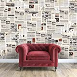 WALPLUS Stickers muraux 147 x 118.8 cm Stickers Muraux Journal Vintage Collage 1 Amovible en Vinyle Autocollant Murale Art Stickers Décoration DIY Salon Chambre Décor Papier Peint, Papier Multicolore