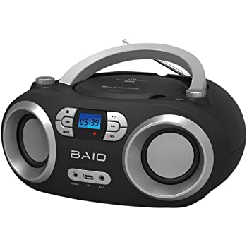 outmark baio tragbarer cd radio bluetooth player usb. Black Bedroom Furniture Sets. Home Design Ideas