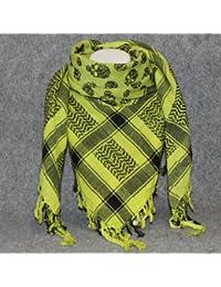 Superfreak® Palituch mit Totenkopf-Muster 3°PLO Schal°100x100 cm°Pali Palästinenser Arafat Tuch°100% Baumwolle – alle Farben!!!