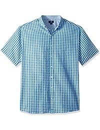 b4d0765c2ecb4 Cutter   Buck Men s s Tyler Plaid Short Sleeve Button Down Seersucker Shirt