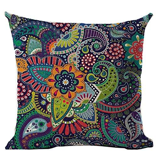 Preisvergleich Produktbild Etopfashion 18 Zoll Kissenhülle quadratisch,  Mandala,  dekorativ,  Kissen,  Bohemien,  indisch,  Reißverschluss,  Hippie,  Kopfkissen,  für Männer Frauen Bürostuhl,  Rücksitz