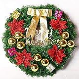 Weihnachtskranz, beleuchtete Ornament Kranz Tür Kranz Weihnachten Ornamente Deko 50cm leichte Schneemann beugen schöne Girlande , bow tie
