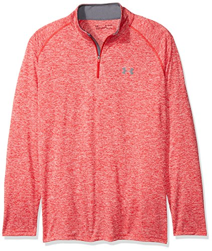 Under Armour Herren Fitness Sweatshirt UA Tech 1/4 Zip, Rot Red, S, 1242220-600 - American Sweatshirt