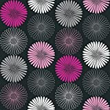 Arthouse 617004Daisy papier peint, Noir/rose, 53cm X 10.05m